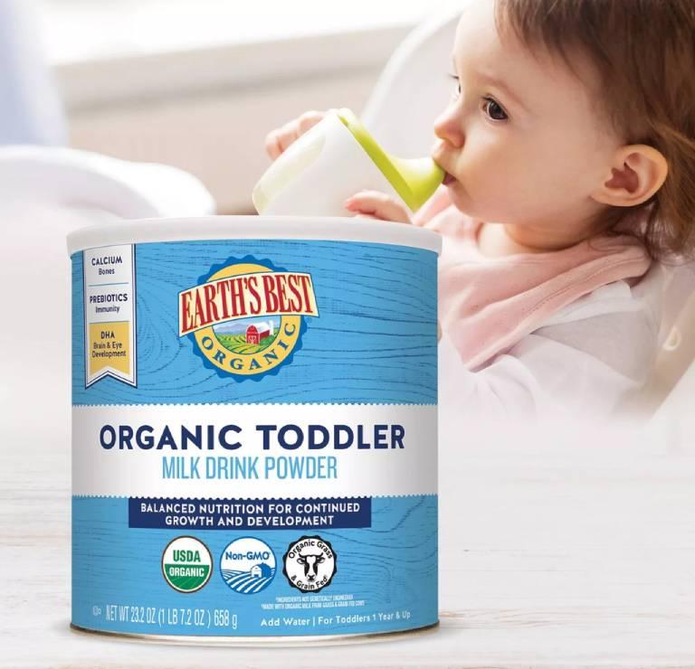 Sữa bột earth's best organic toddler formula